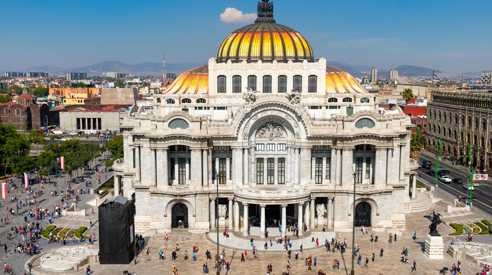 Hlavní město Mexika a jeho okolí