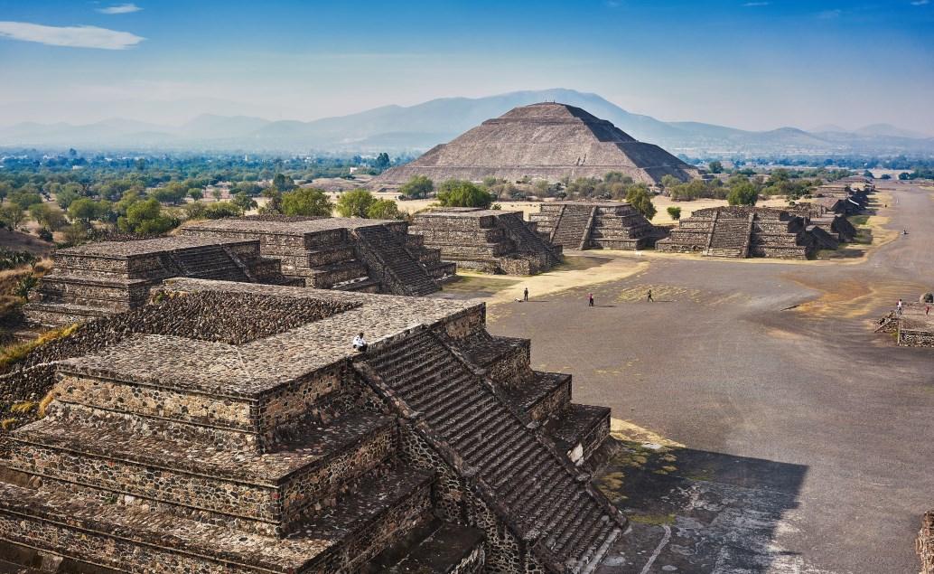 Okolí Mexico city a karibské pláže